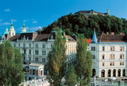 Cycle around Ljubljan'center and take a boat cruise on the Ljubjana moors